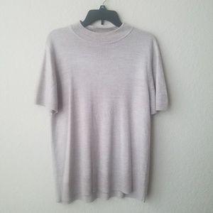 Sag harbor short sleeve tan sweater size XL
